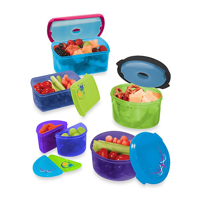 Alternate image 1 for Fit & Fresh® Kid's 14-Piece Food Storage Container Set with Removable Ice Packs