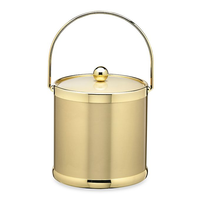Alternate image 1 for Kraftware™ Americano Brushed Brass 3-Quart Ice Bucket with Bale Handle