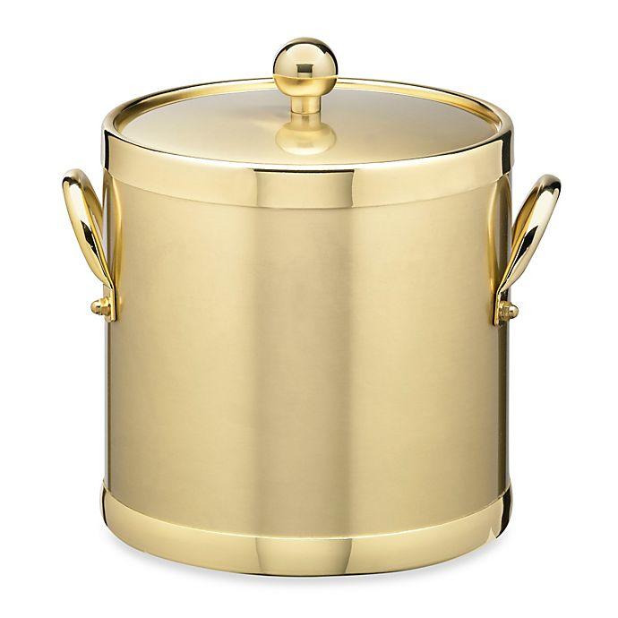 Alternate image 1 for Kraftware™ Americano Brushed Brass 3-Quart Ice Bucket with Metal Handles