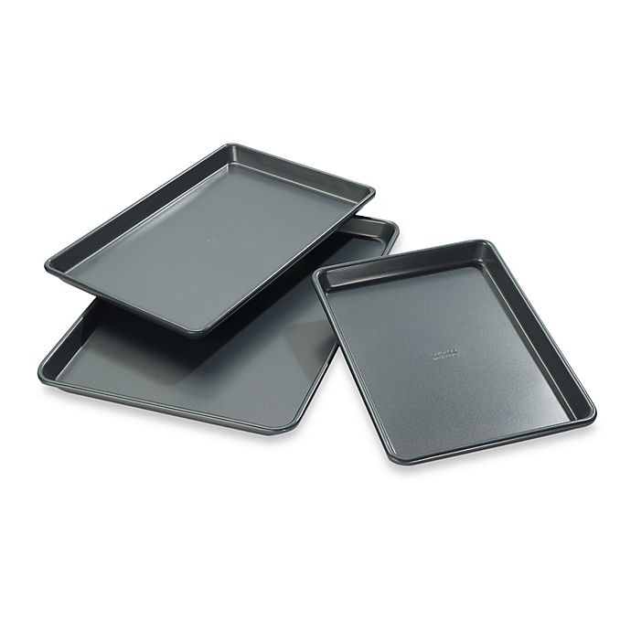 Alternate image 1 for Chicago Metallic™ Professional Jelly Roll Pans with Armor-Glide Coating (Set of 3)