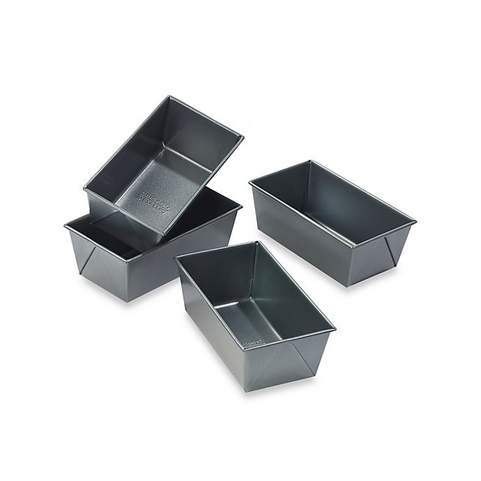 Alternate image 1 for Chicago Metallic™ Professional Mini Loaf Pans with Armor-Glide Coating (Set of 4)