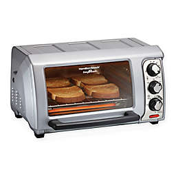 Hamilton Beach© Easy Reach® Toaster Oven with Roll-Top Door in Silver