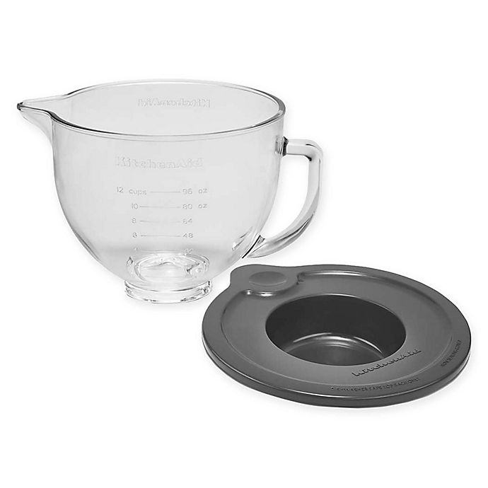 Alternate image 1 for KitchenAid® 5 qt. Tilt-Head Mixer Glass Bowl with Lid