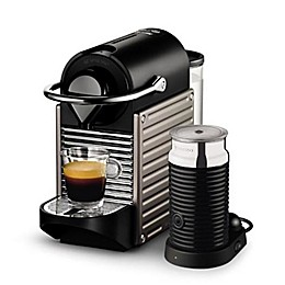 Nespresso® Pixie Espresso Machine by Breville® with Aeroccino Milk Frother in Electric Titan