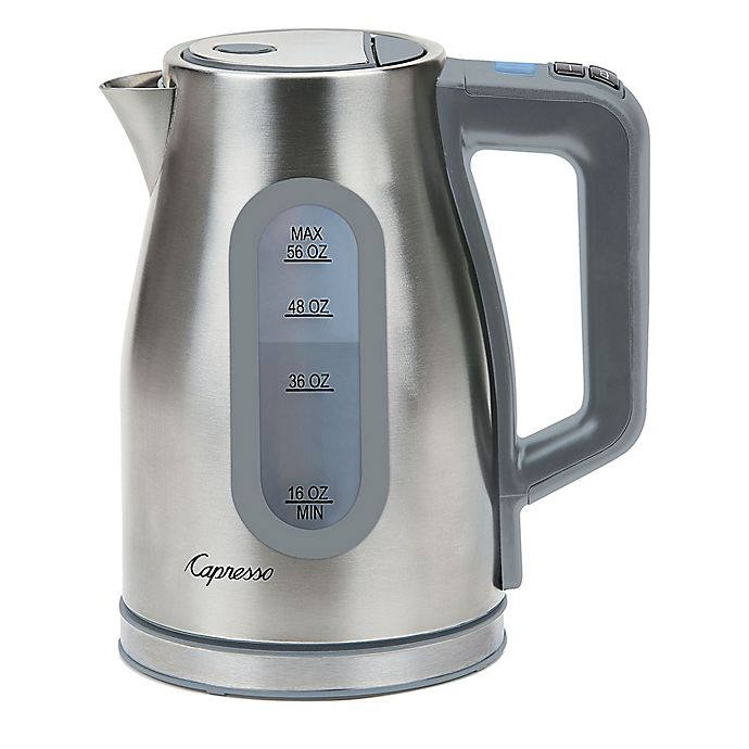 Alternate image 1 for Capresso® H20 Select 56 oz. Stainless Steel Electric Water Kettle