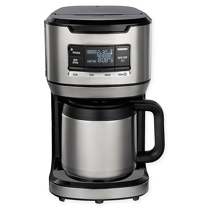 Alternate image 1 for Hamilton Beach® 12-Cup Front Fill Thermal Coffee Maker in Black