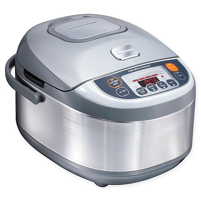 Alternate image 1 for Hamilton Beach® 4 qt. Advanced Multi-Function Rice Cooker