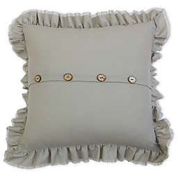 Belle Ruffle 20-Inch Square Square Throw Pillow in Grey