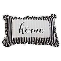 Carlene Home Oblong Throw Pillow in Black