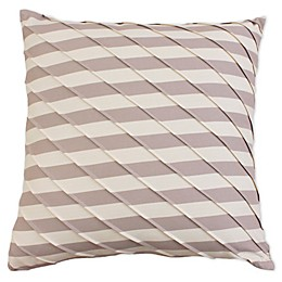 Ryder Pleated Square Throw Pillow in Grey/Cream