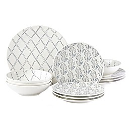 Lenox® Textured Neutrals™ 12-Piece Dinnerware Set in Chambray
