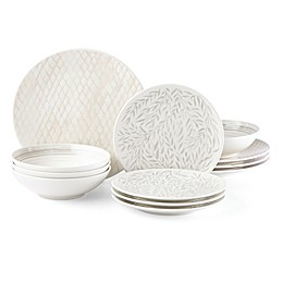 Lenox® Textured Neutrals™ 12-Piece Dinnerware Set in Linen