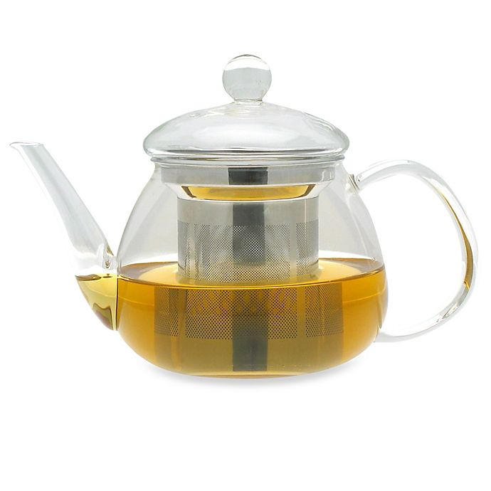 Alternate image 1 for adagio teas 17-Ounce Petit Glass Teapot with Stainless Steel Infuser