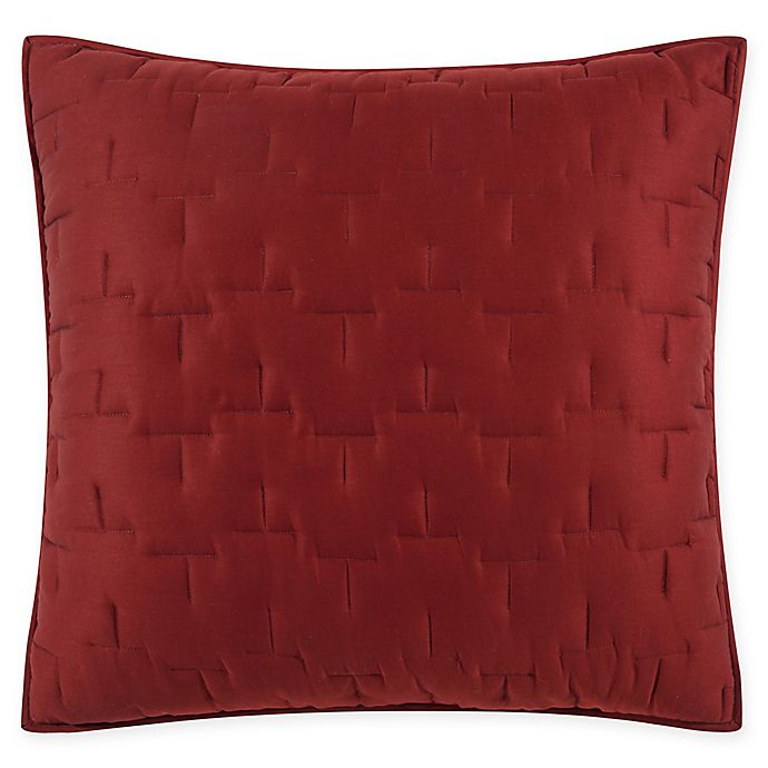Alternate image 1 for O&O by Olivia & Oliver™ Lofty Stitch European Pillow Sham in Wine