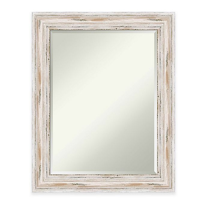 Alternate image 1 for Amanti Art Alexandria 23-Inch x 29-Inch Wall Mirror in White