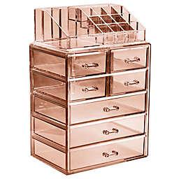 Sorbus 2-Piece 7-Drawer Vanity Organizer in Brown