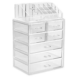 Sorbus 2-Piece 7-Drawer Vanity Organizer in Clear