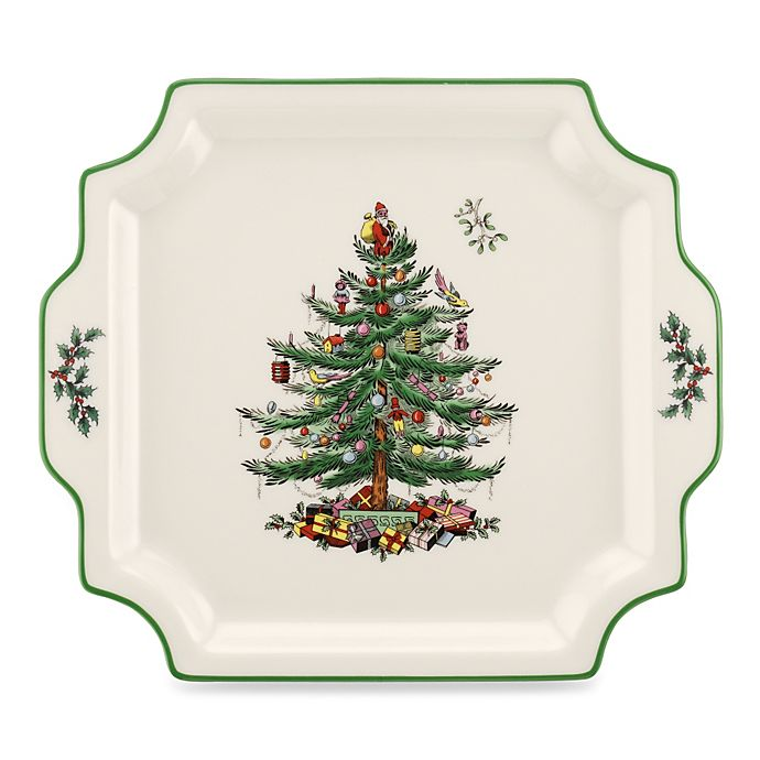 Alternate image 1 for Spode® Christmas Tree Square Handled Platter