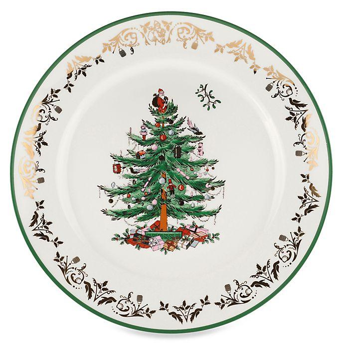 Alternate image 1 for Spode® Christmas Tree Gold 12-Inch Round Platter