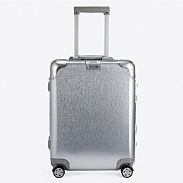 Autonomous Aluminum 20-Inch Hardside Spinner Carry On Luggage in Silver