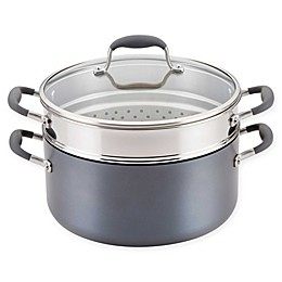 Anolon® Advanced™ Home Hard-Anodized 8.5 qt. Covered Stock Pot and Steamer Insert