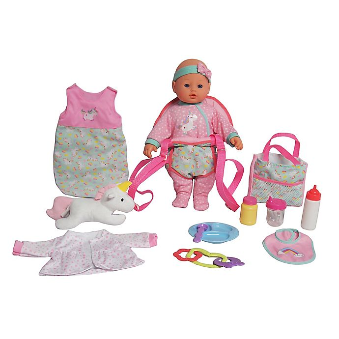 Alternate image 1 for Baby Doll Traveling 13-Piece Playset