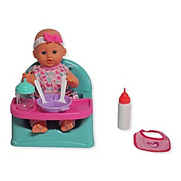 Dream Collection 14-Inch Baby Doll Feeding Fun 8-Piece Playset
