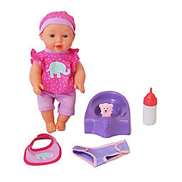 Gi-Go Toy 5-Piece Drink & Wet Baby Doll Set