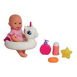 Gi-Go Bath Time 6-Piece Doll Play Set with Unicorn Floatie