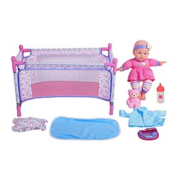 Gi-Go Toy 8-Piece Baby Doll Care Gift set with Playpen