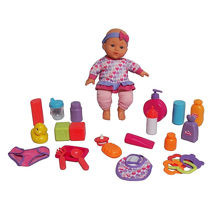 Alternate image 1 for Gi-Go Toy Dream Collection 22-Piece Baby Girl Doll & Care Set