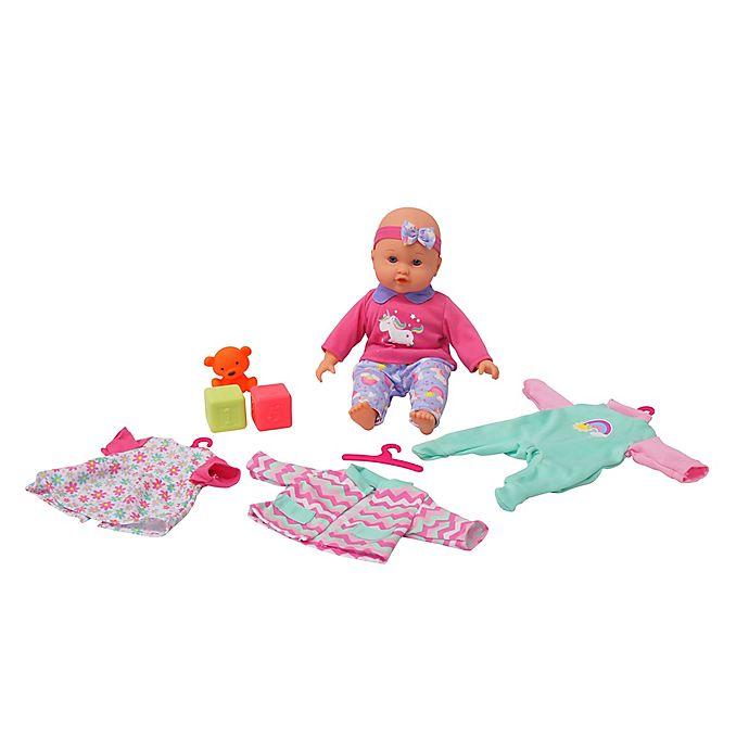 Alternate image 1 for Gi-Go Toy 6-Piece My LiL Wardrobe Baby Doll Set