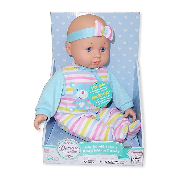 Alternate image 1 for Gi-Go Toy Dream Collection Chatter & Coo Baby Boy Doll
