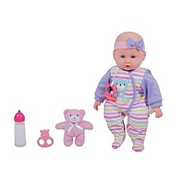 Gi-Go Toy Dream Collection Maggie 4-Piece Baby Girl Doll Set with Teddy Bear Plush