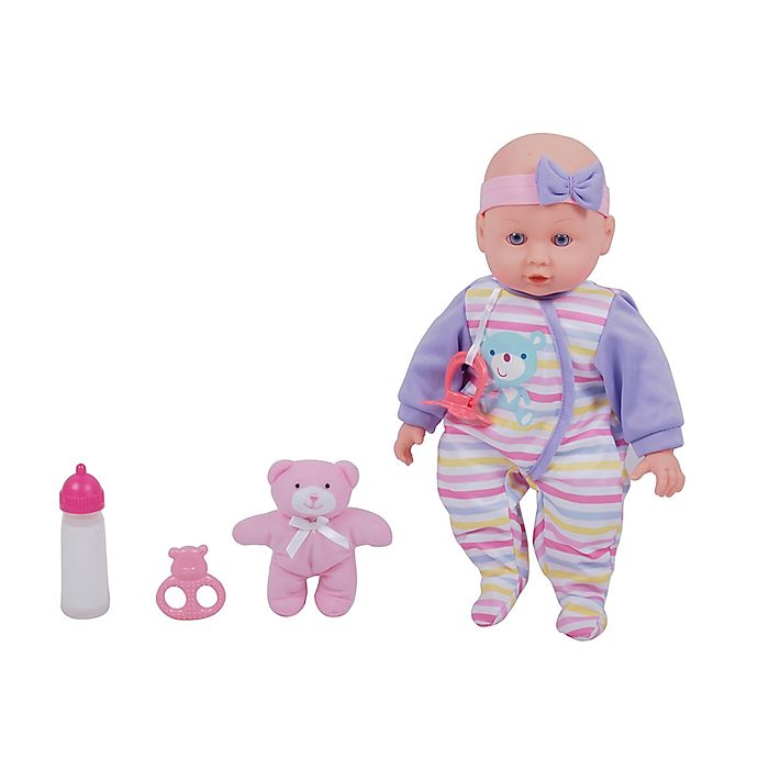 Alternate image 1 for Gi-Go Toy Dream Collection Maggie 4-Piece Baby Girl Doll Set with Teddy Bear Plush
