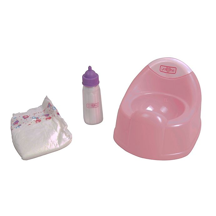 Alternate image 1 for Gi-Go Toy Dream Collection 3-Piece Baby Doll Diaper & Potty Set