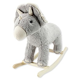 Soft Landing™ Joyrides Dinosaur Rocking Toy in Grey