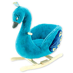 Soft Landing™ Joyrides Peacock Rocking Toy in Teal