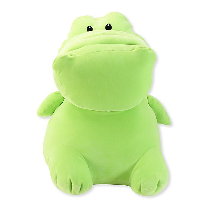 Alternate image 1 for Stud Muffins Jumbo Alligator Plush Toy in Green