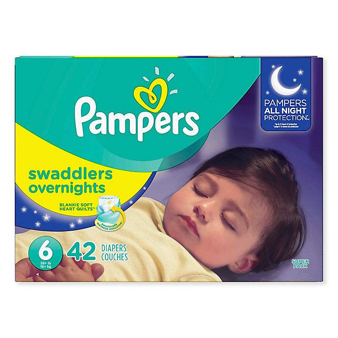 Alternate image 1 for Pampers® Swaddlers™ Overnights 42-Count Size 6 Diapers