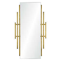 Ren-Wil Abi Irregular Framed Wall Mirror in Brass