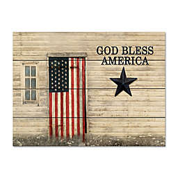 """Courtside Market® """"God Bless America"""" 12-Inch x 16-Inch Wood Pallet Wall Art"""