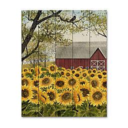 Courtside Market® Sunflower Barn Wood Pallet Wall Art