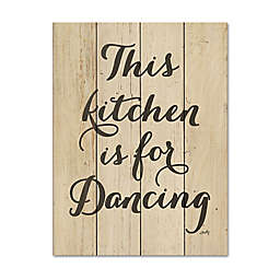 """Courtside Market® """"This Kitchen is for Dancing"""" Wood Pallet Wall Art"""