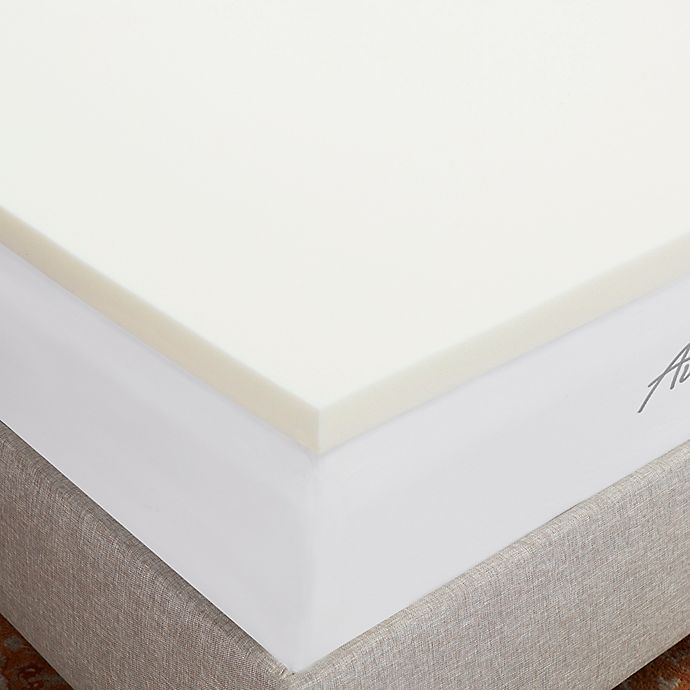 Alternate image 1 for Authentic Comfort® 1.5-Inch Breathable Memory Foam Mattress Topper