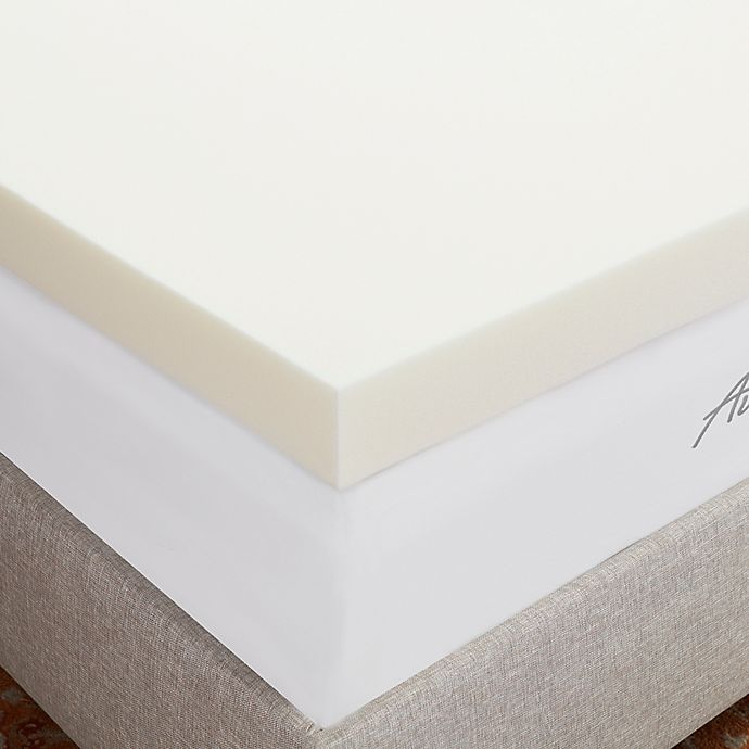 Alternate image 1 for Authentic Comfort® 4-Inch Breathable Memory Foam Mattress Topper