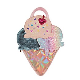 OMG Accessories Sequin Ice Cream Mini Backpack in Pink