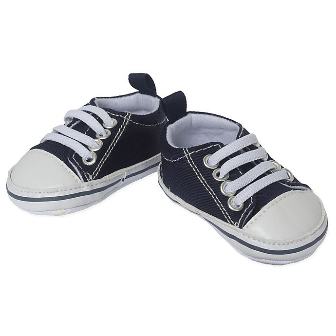 Alternate image 1 for Little Me® Twill Sneaker in Navy