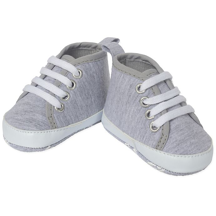 Alternate image 1 for Little Me® High-Top Sneaker in Heather Grey