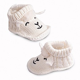 IQ Kids Size 0-6M Lamb Booties in Ivory